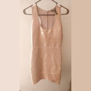 BCBG Maxazria Pink Gold Tank Dress